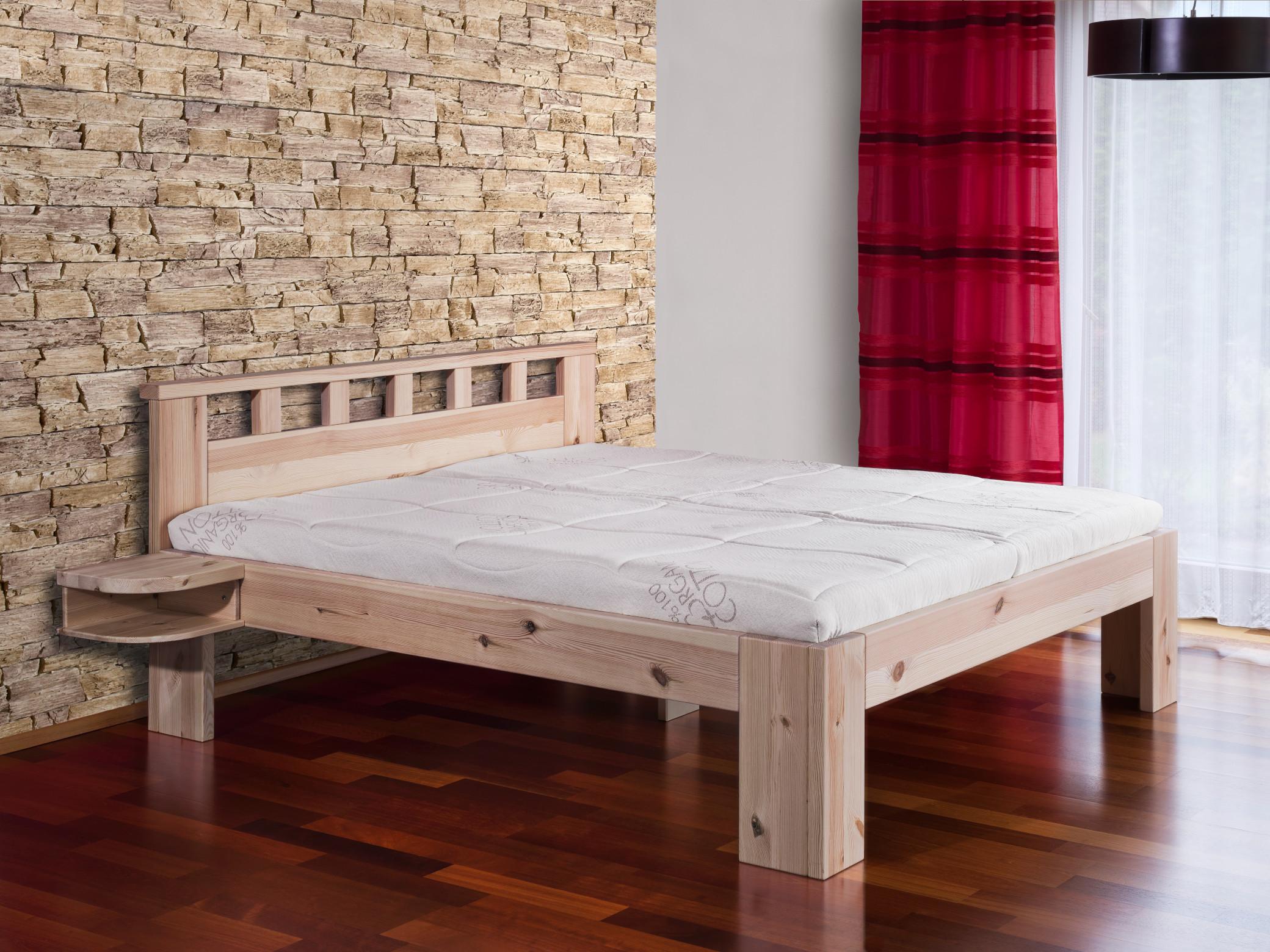 Oblíbený model Rhodos z masivního borovicového dřeva bez povrchové úpravy.
